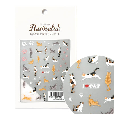 Resin Club Stickers - Cats - Made in Japan