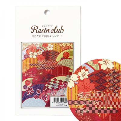 Resin Club Stickers - Japanese Chiyogami Pattern - Made in Japan