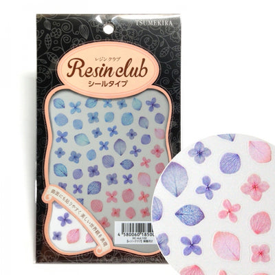 Resin Club Stickers - Hydrangea - Made in Japan