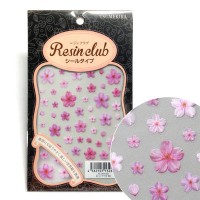 Resin Club Stickers - Sakura Pink - Made in Japan