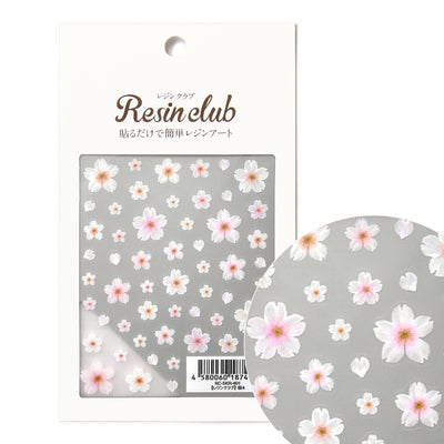 Resin Club Stickers - Yoshino Sakura Blossom - Made in Japan