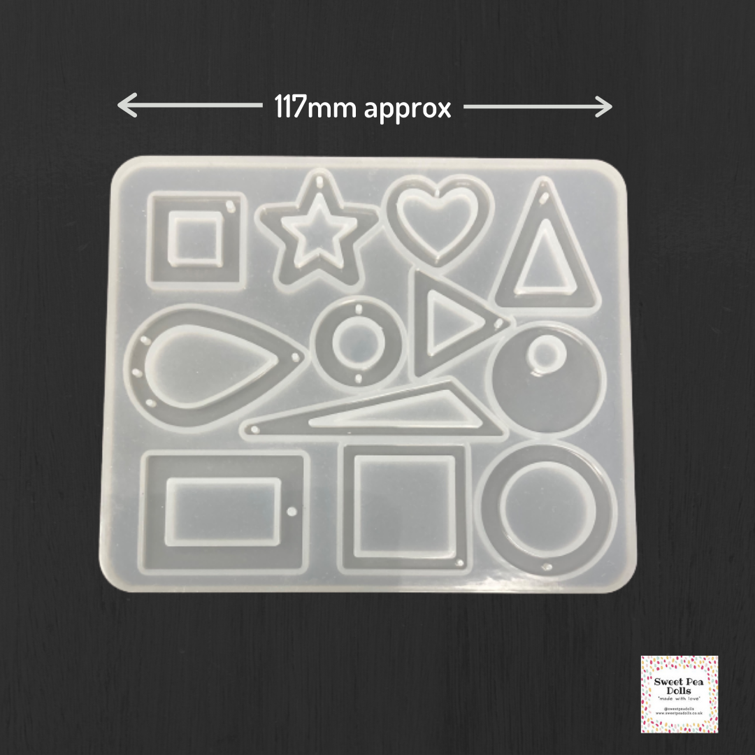 Resin Silicone Soft Mold - Geometric Shapes - Earrings