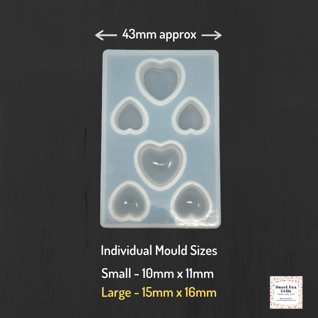 Resin Silicone Soft Mold - Small Hearts