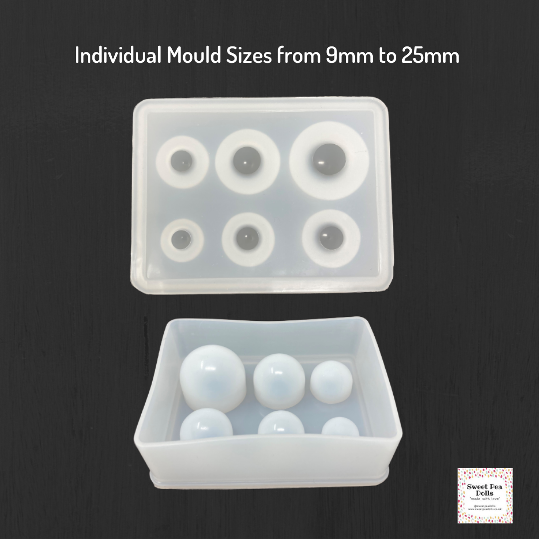 Resin Silicone Soft Mold - Spheres (9 - 25mm)