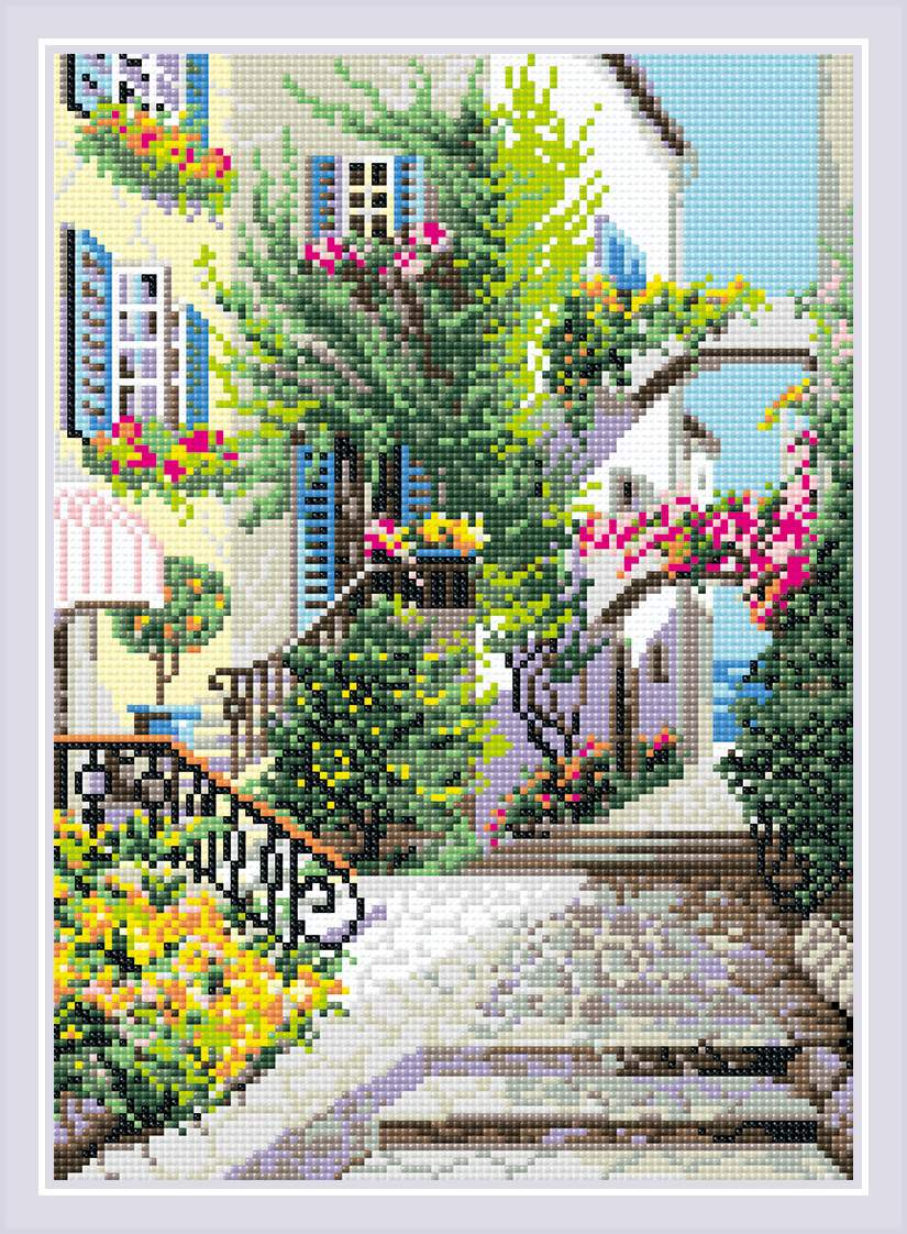 Riolis Diamond Painting Kit - Italian Courtyard