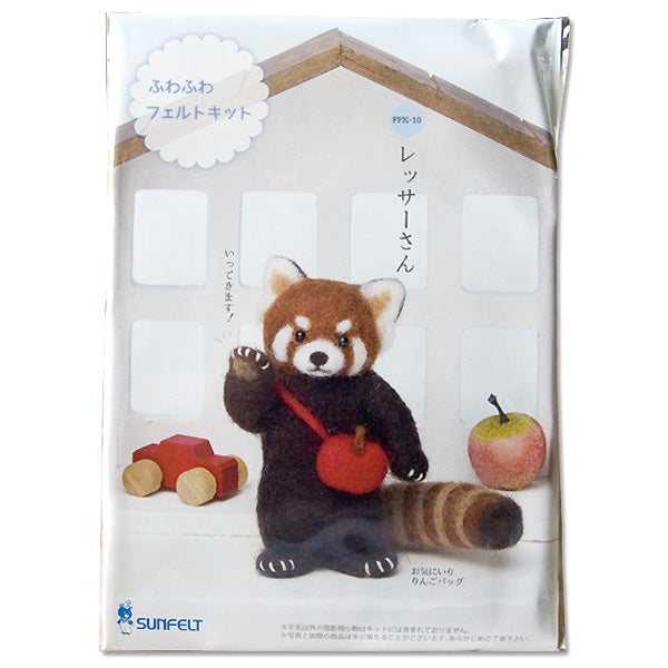 Sunfelt Needle Felting Kit - Red Panda (English)