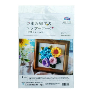 Olympus Tsumami Flower Craft Kit with Wooden Frame - Summer Bouquet
