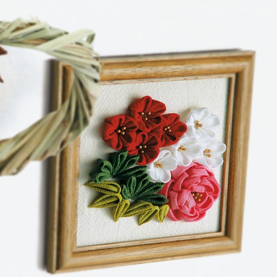 Olympus Tsumami Flower Craft Kit with Wooden Frame - Winter Bouquet