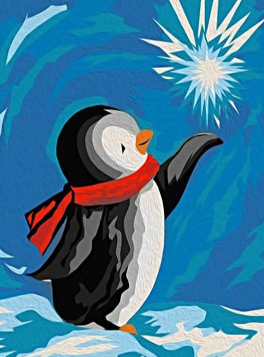 Wizardi Diamond Painting Kit - Penguin with Star