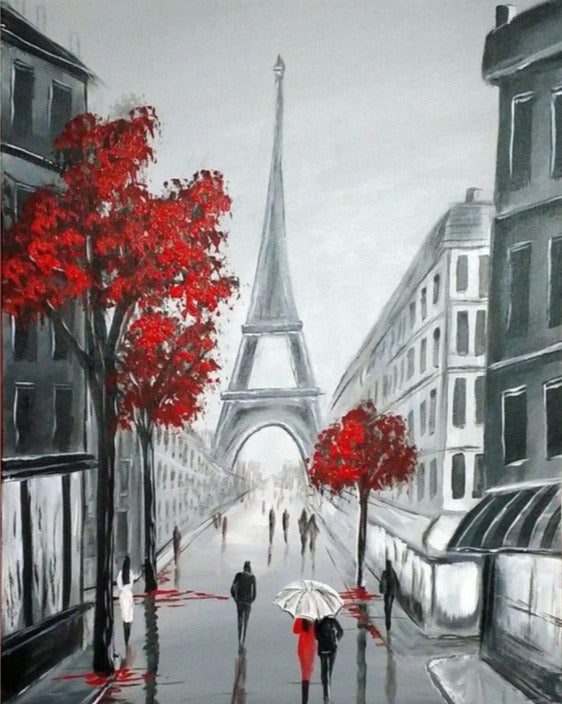 Wizardi Diamond Painting Kit - Paris Sketch