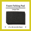 Large Black Foam Pad for Needle Felting - 30cm x 21cm