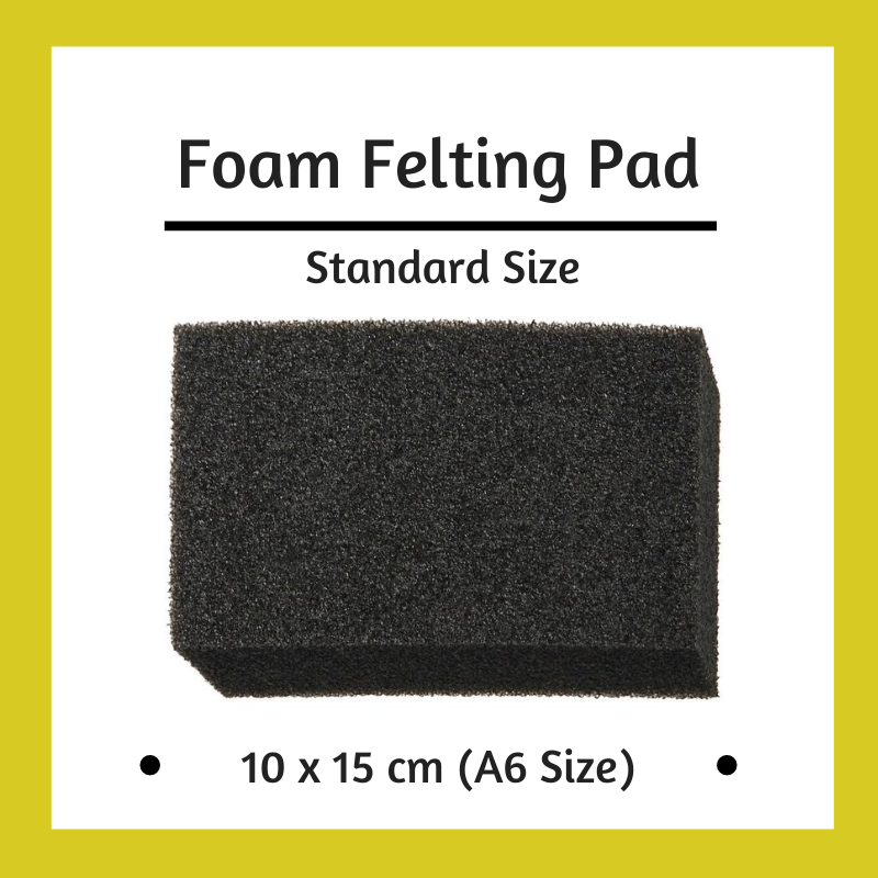 Black Foam Pad for Needle Felting - 15cm x 10.5cm