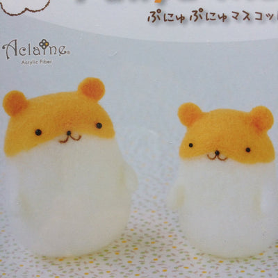 Hamanaka Aclaine Needle Felting Kit - Hamsters (English)