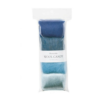 Hamanaka Wool Candy 4 Colour Set - Blue