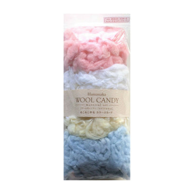 Hamanaka Wool Candy 4 Colour Set - Curly Pastel