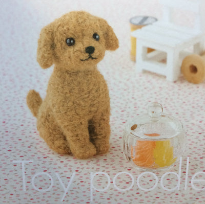 Hamanaka Needle Felting Kit - Toy Poodle (English)