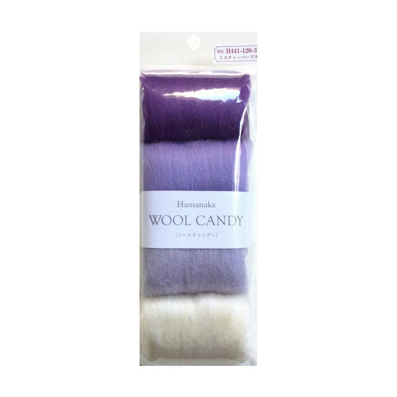 Hamanaka Wool Candy 4 Colour Set- Purple