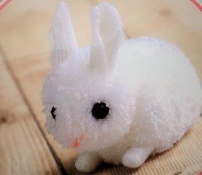Hamanaka Little White Rabbit Pom Pom Craft Kit.
