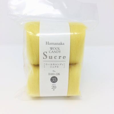 Hamanaka Wool Candy Sucre - Yellow 20g