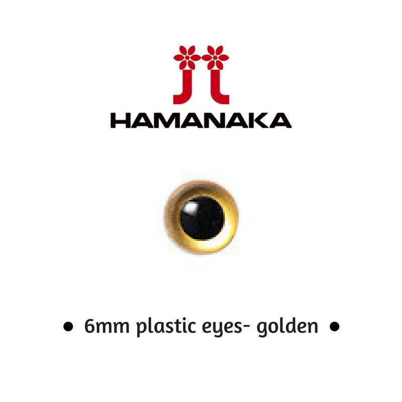 Hamanaka 6mm Gold Eyes - 1 pair