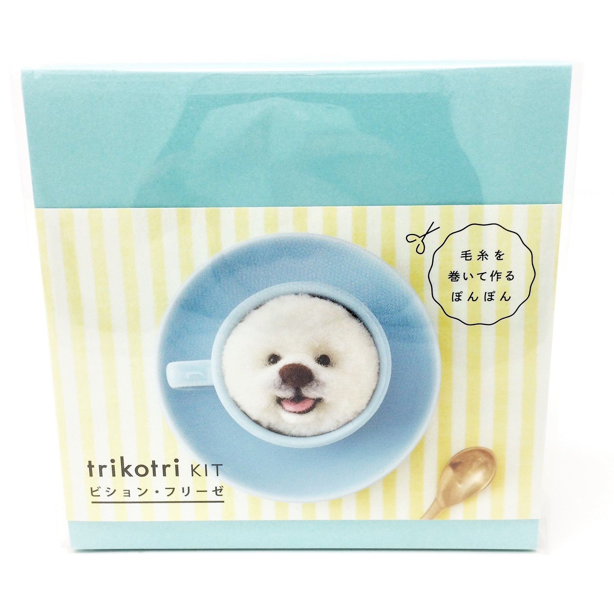Trikotri KIT -  Bichon Frise Pom Pom Kit (English)