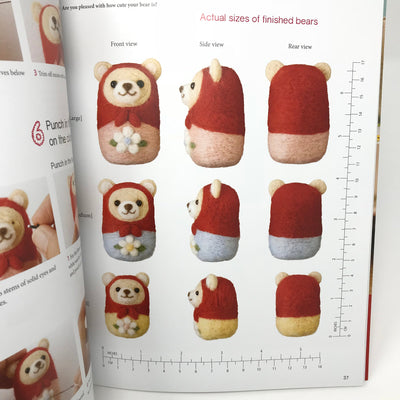 Sweet and Simple Needle Felted Animals English Book - Sachiko Susa