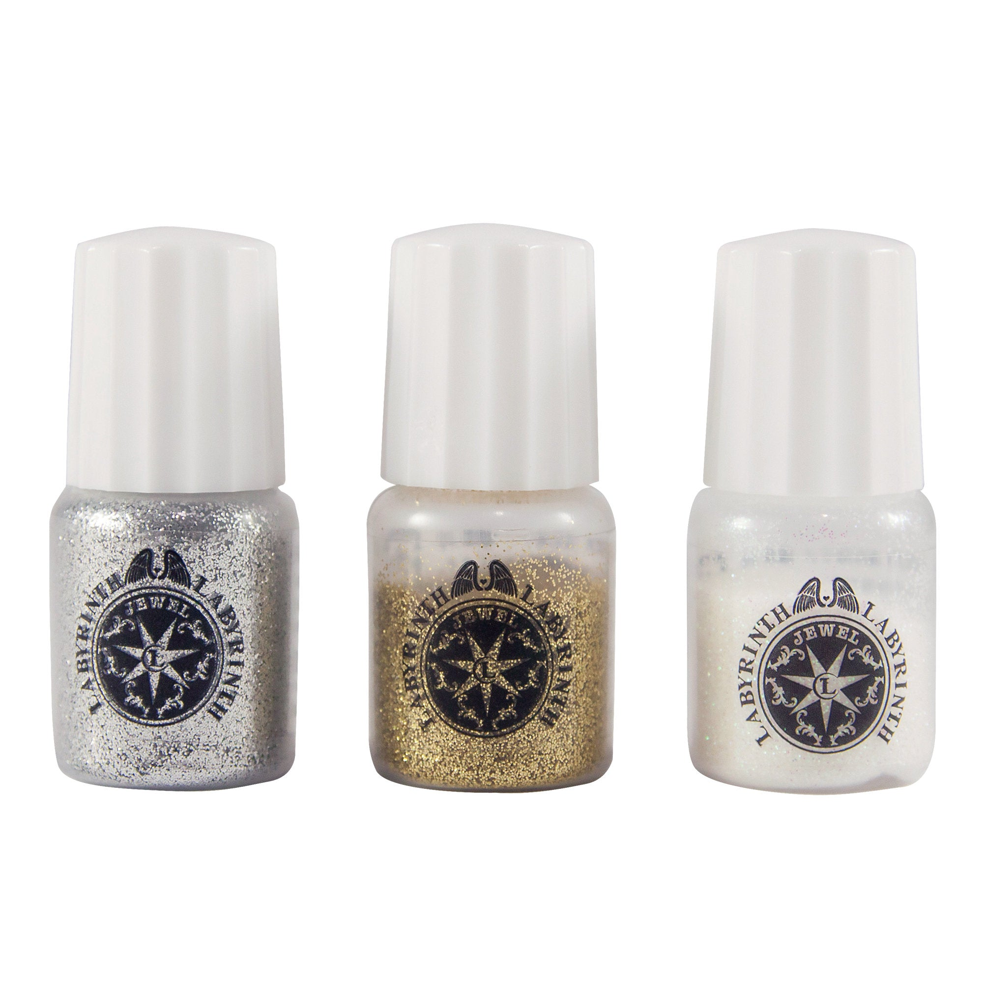 Padico Glitter Set for Resin Crafts - Gold, Silver, White