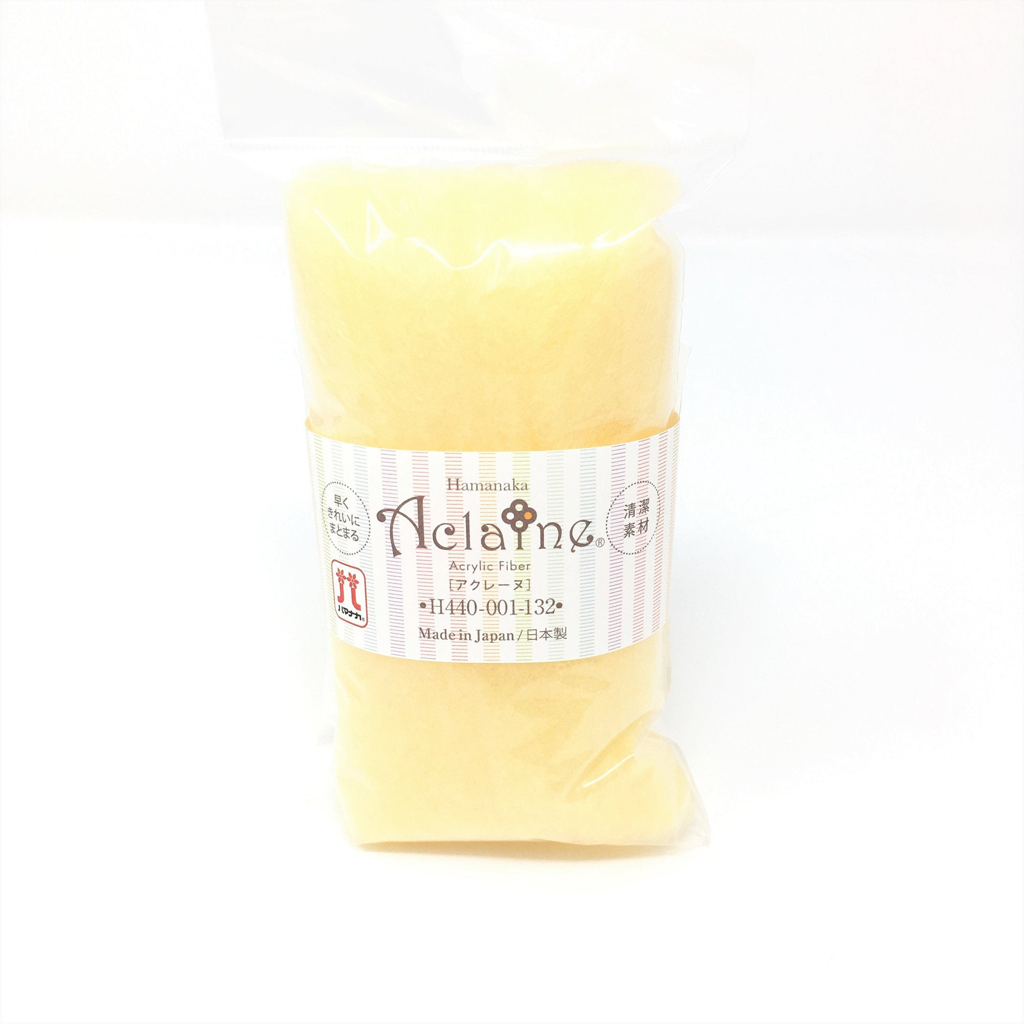 Japanese Hamanaka Aclaine Acyrlic Fibre for Needle Felting. 15g pack- Champagne