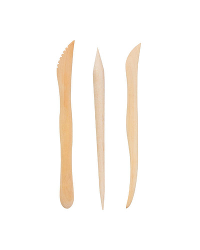 Padico Wooden Spatula for Clay - 3 Piece Set
