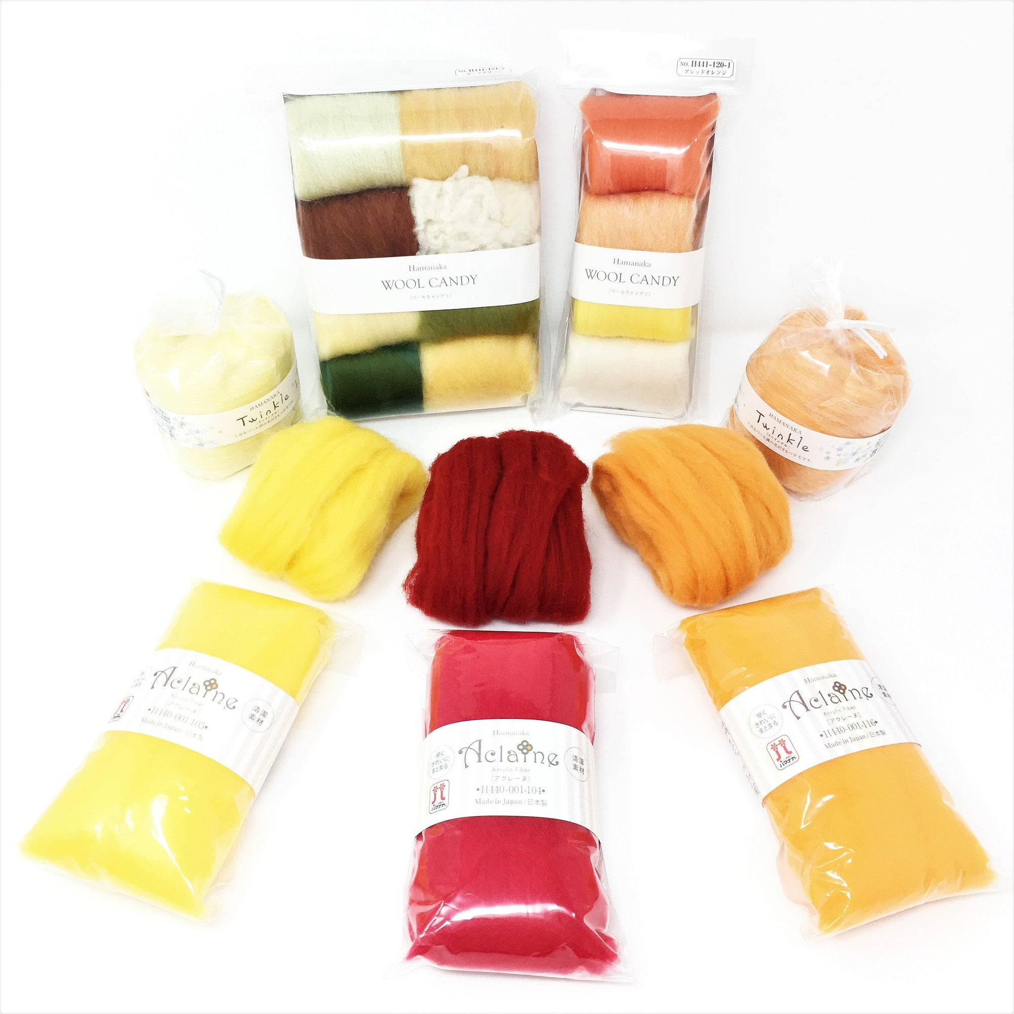Momiji - もみじ  - Limited Edition Autumn Colours Felting Fibre Set
