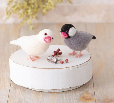Hamanaka Aclaine Needle Felting Kit - Java Finch & Javanese Rice Birds