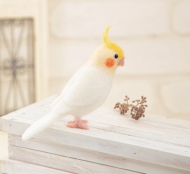 Hamanaka Aclaine Needle Felting Kit - Cockatiel (English)
