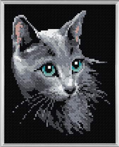 Riolis Diamond Painting Kit - Russian Blue Cat