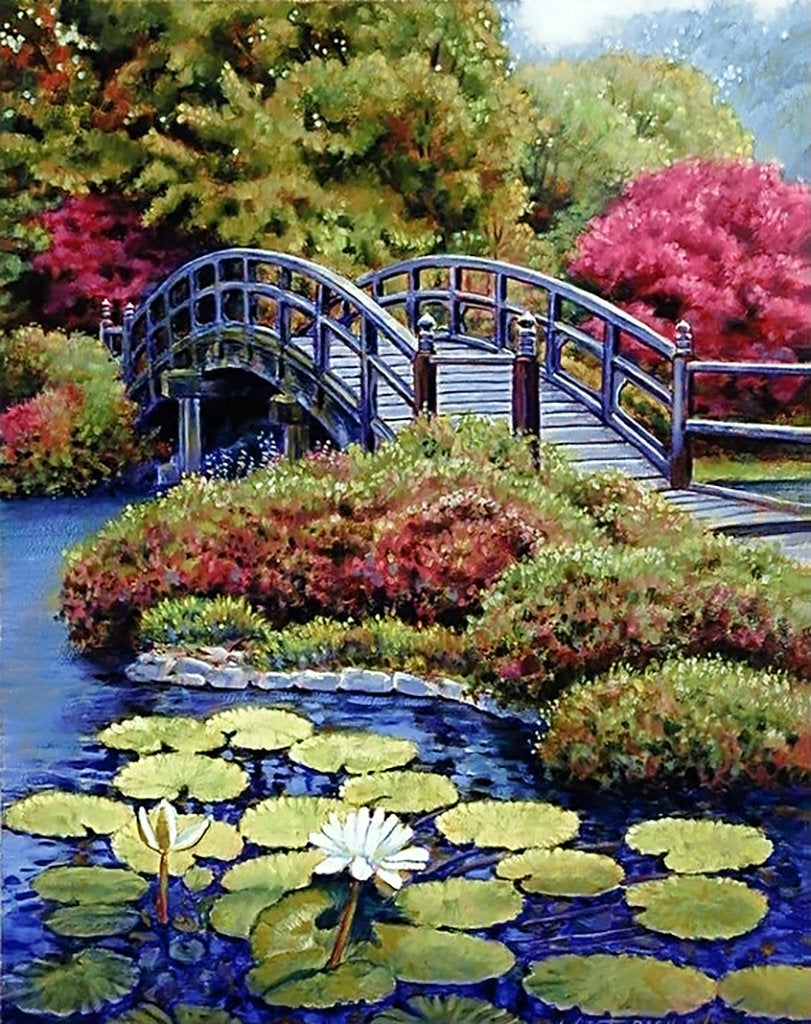 Wizardi Diamond Painting Kit - Japanese Garden