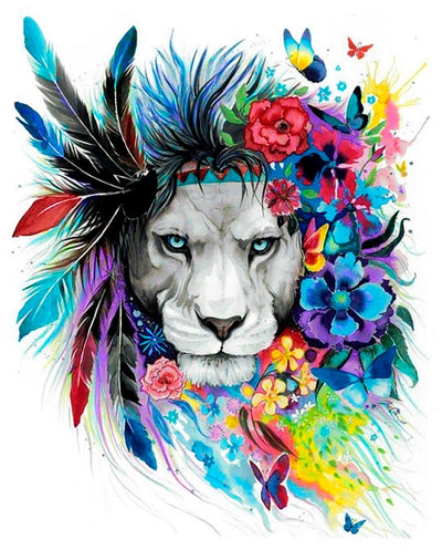 Wizardi Diamond Painting Kit - Lion