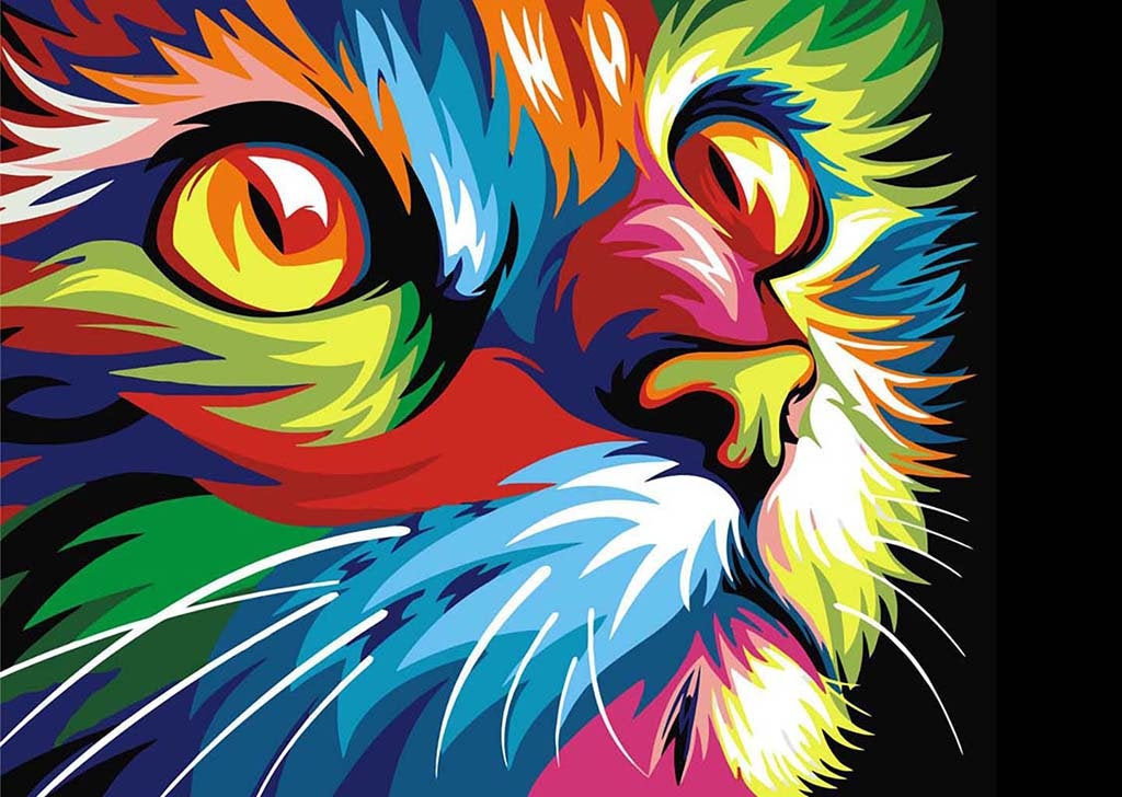 Wizardi Diamond Painting Kit - Rainbow Cat