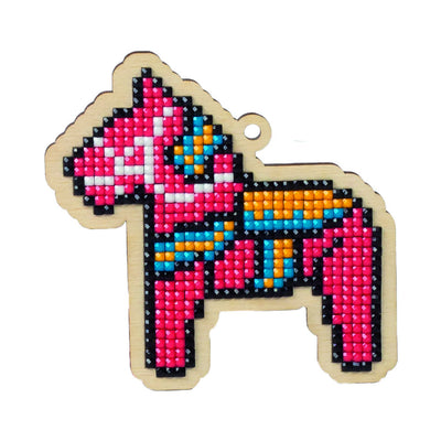 Wizardi Wooden Charms Diamond Painting Kit - Toy Horse