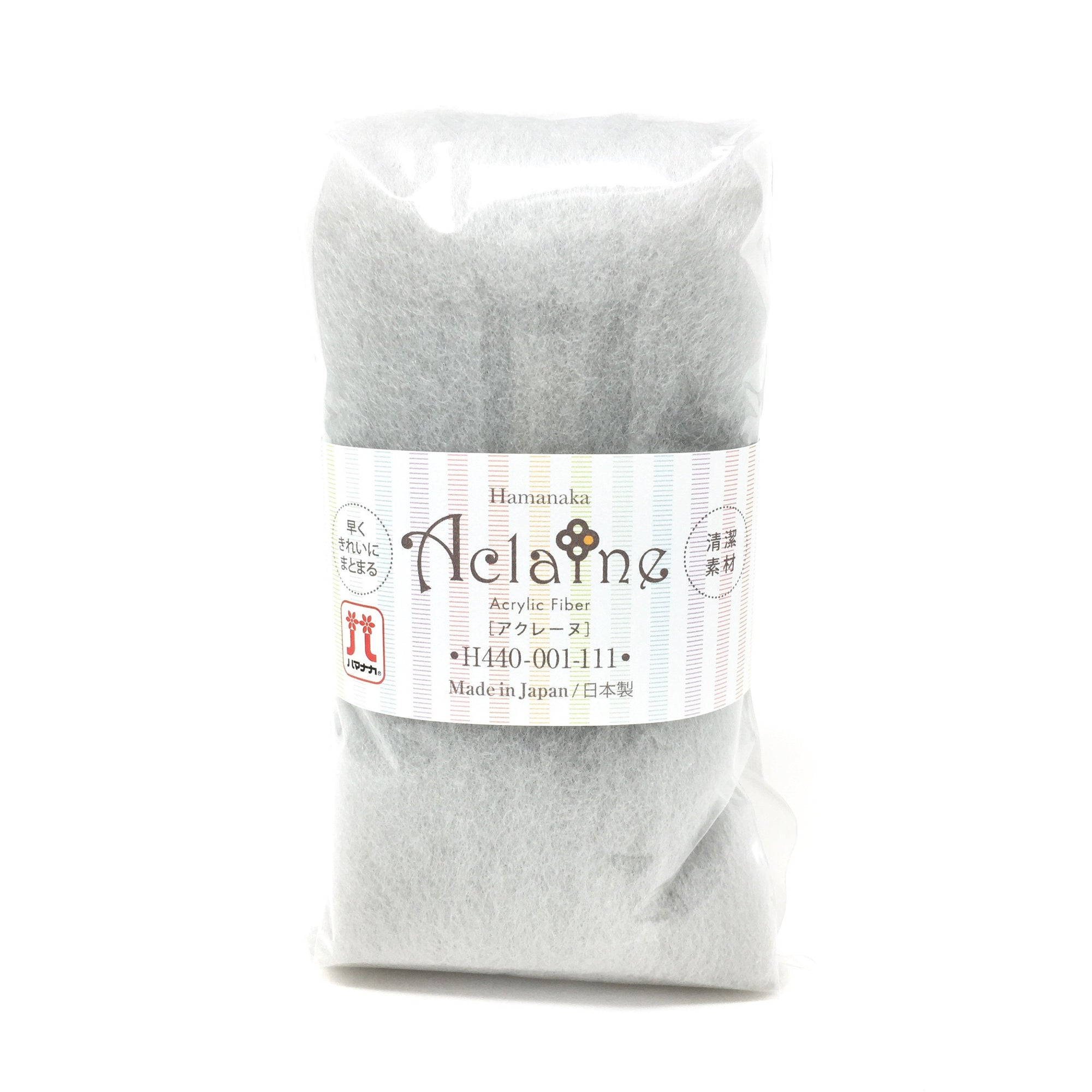 Japanese Hamanaka Aclaine Acrylic Felting Fibre. 15g pack - Light Grey