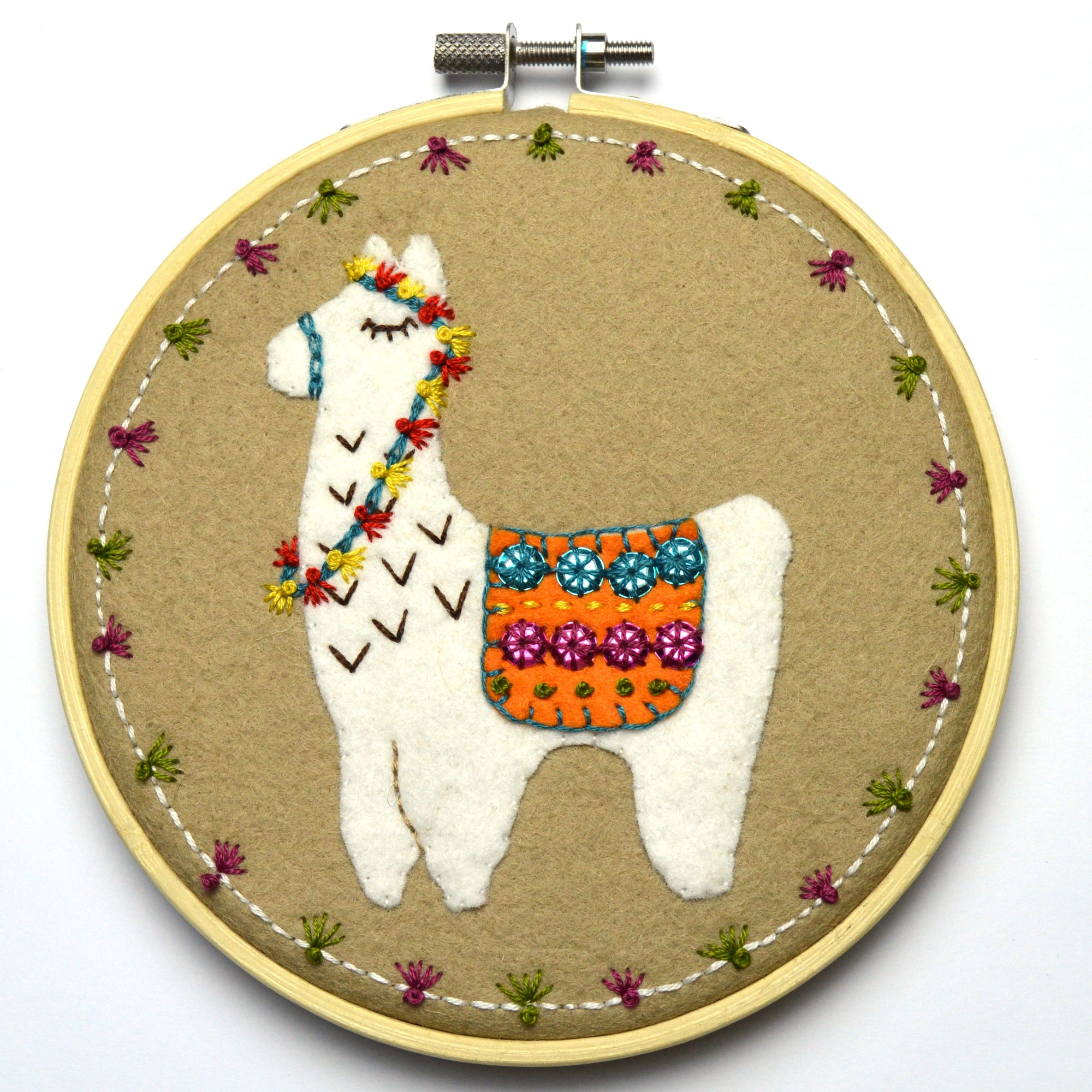 Corinne Lapierre Applique Hoop Sewing Kit - Llama