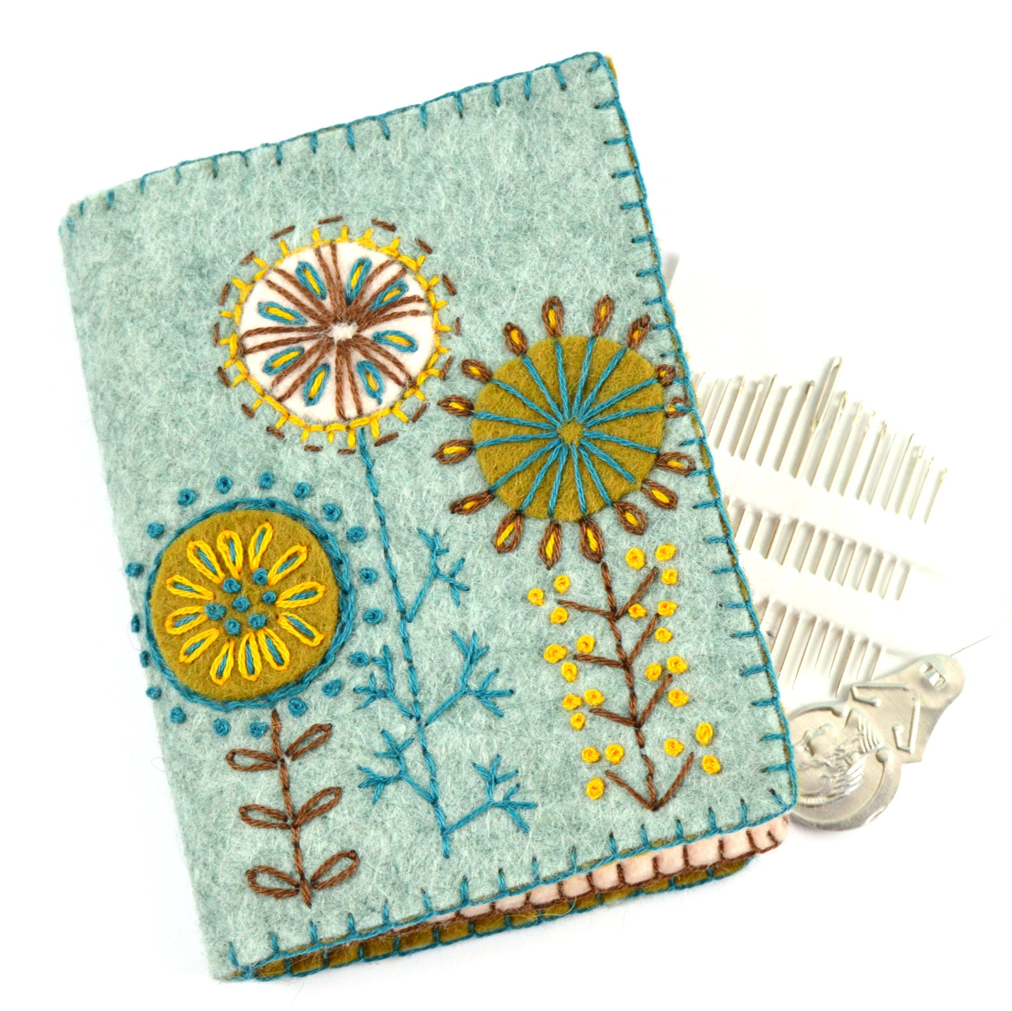 Corinne Lapierre Embroidery Sewing Kit - Needle Case with Flowers