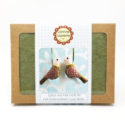 Corinne Lapierre Embroidery Sewing Kit - Love Birds