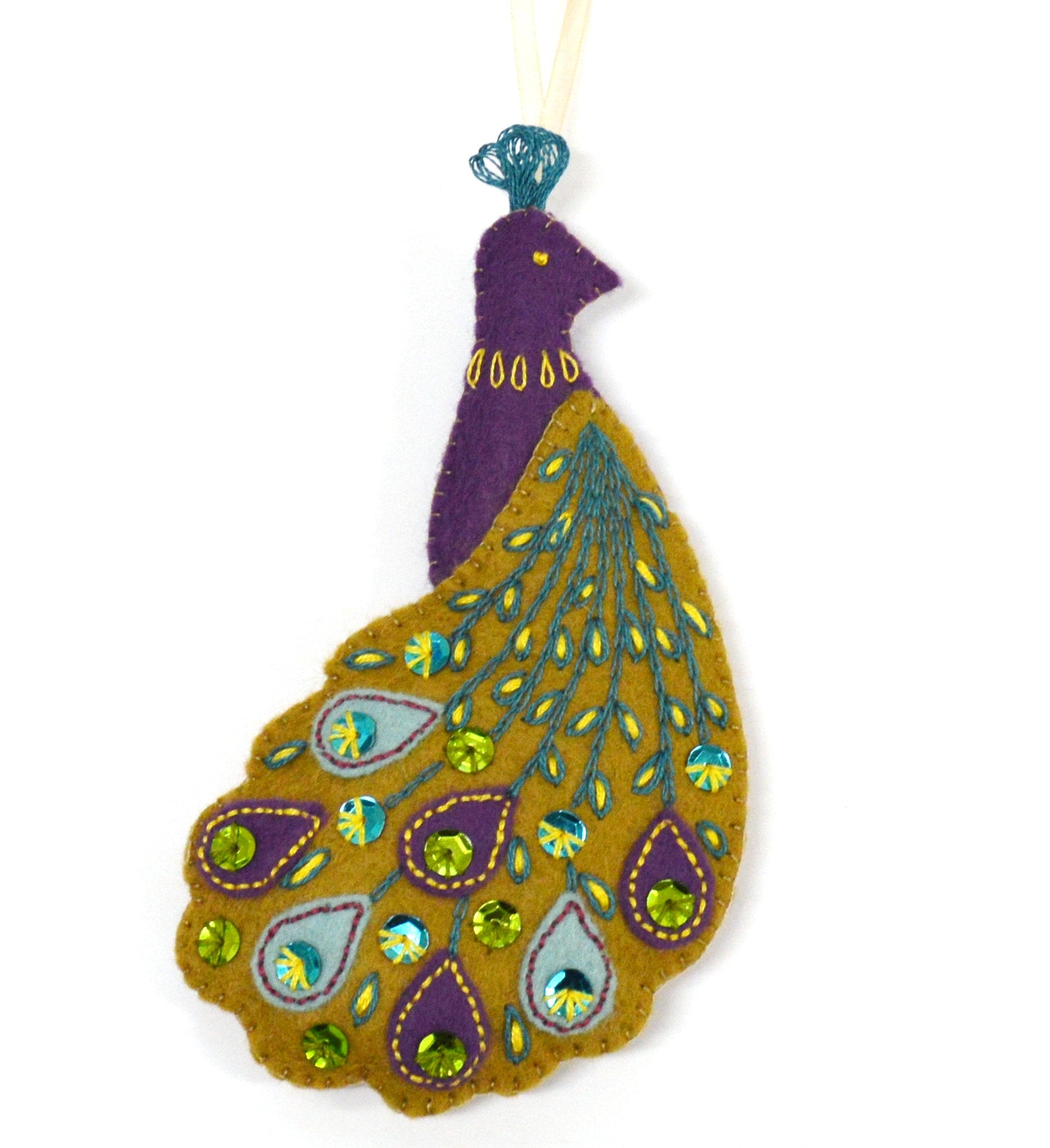 Corinne Lapierre Embroidery Sewing Kit - Peacock