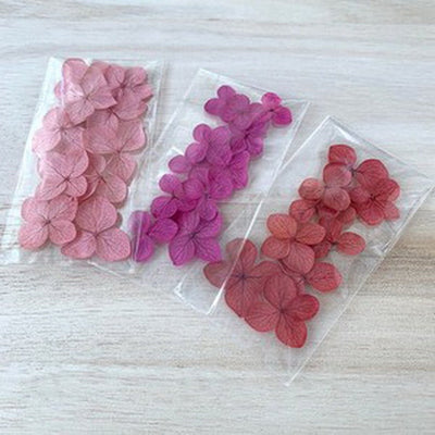 Preserved Hydrangea Flower Petals - Mixed Red, Pink & Burgundy