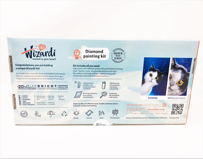 Wizardi Diamond Painting Kit - Curious Cat