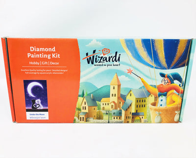 Wizardi Diamond Painting Kit - Cats under the Moon