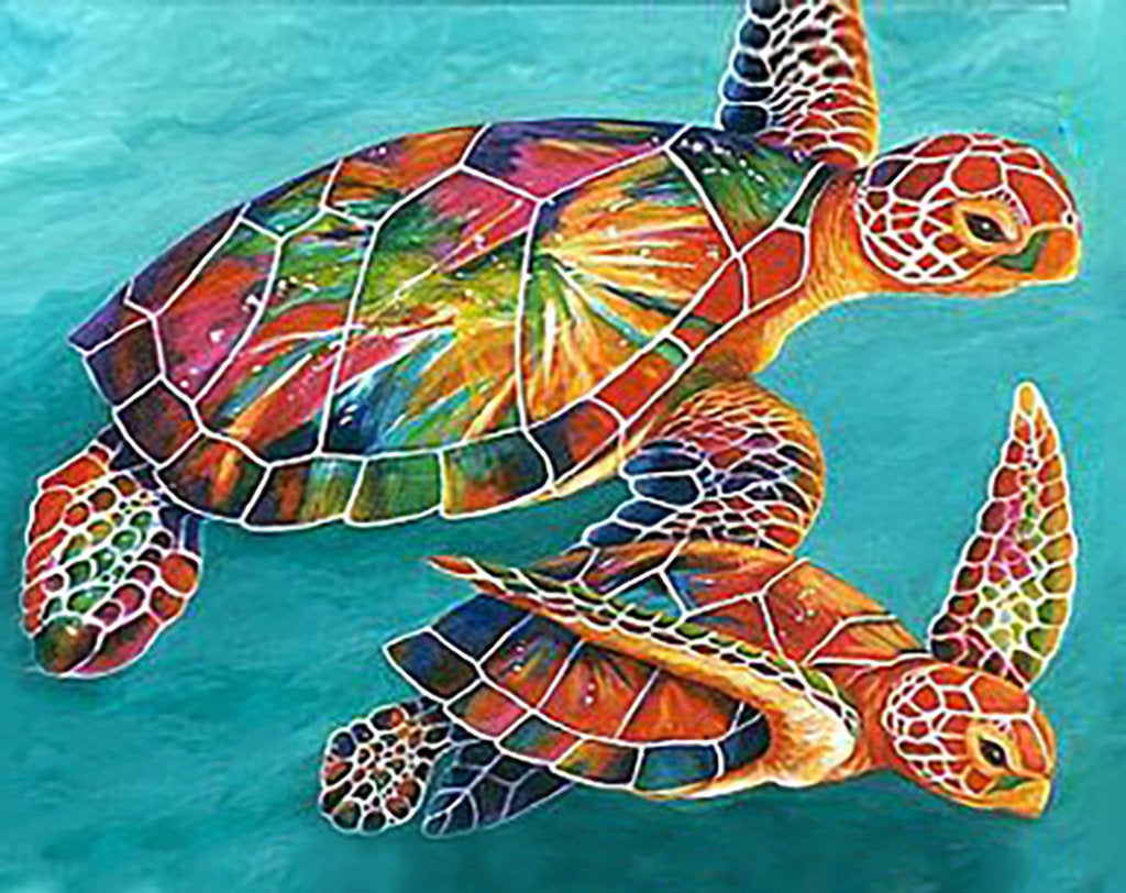 Wizardi Diamond Painting Kit - Sea Turtles