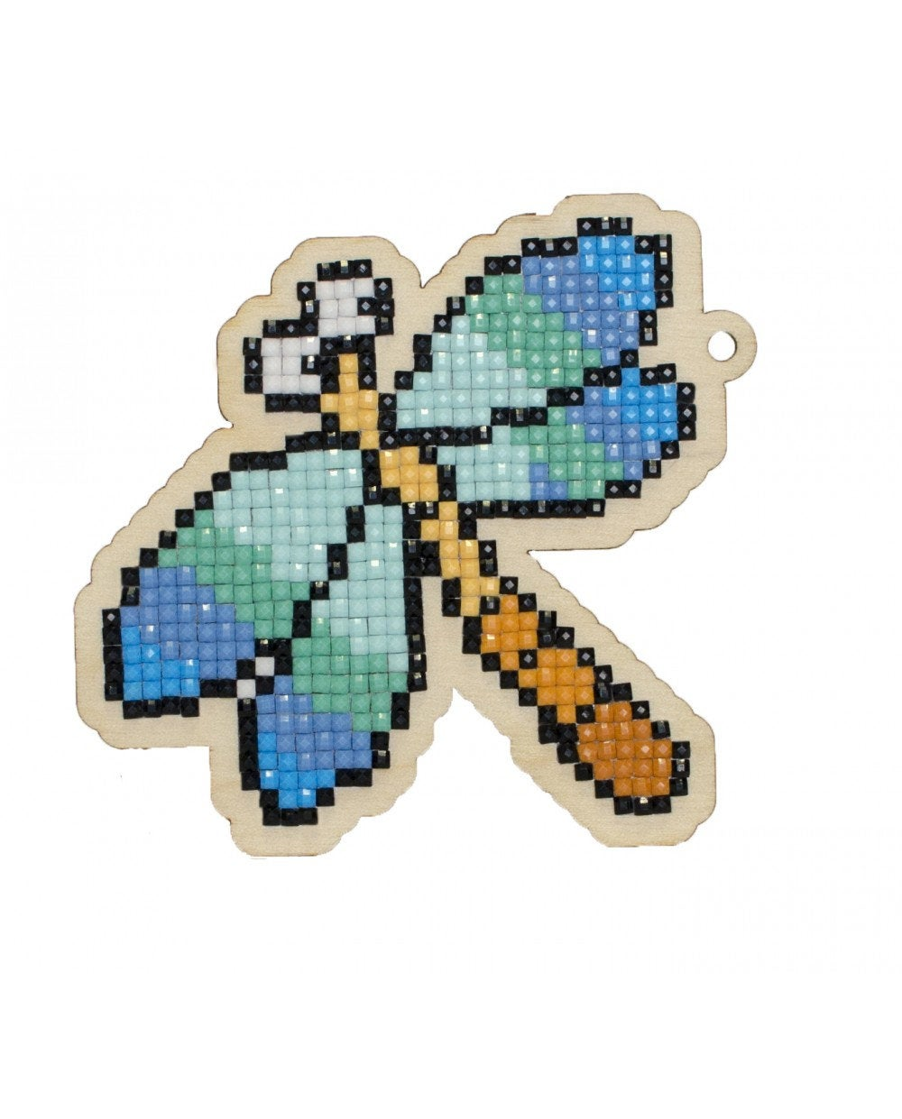 Wizardi Wooden Charms Diamond Painting Kit - Dragonfly