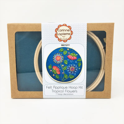 Corinne Lapierre Applique Hoop Sewing Kit - Tropical Flowers