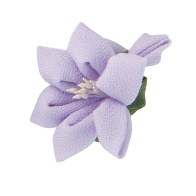Olympus Tsumami Zaiku Flower Brooch Craft Kit  - Lilac Lily