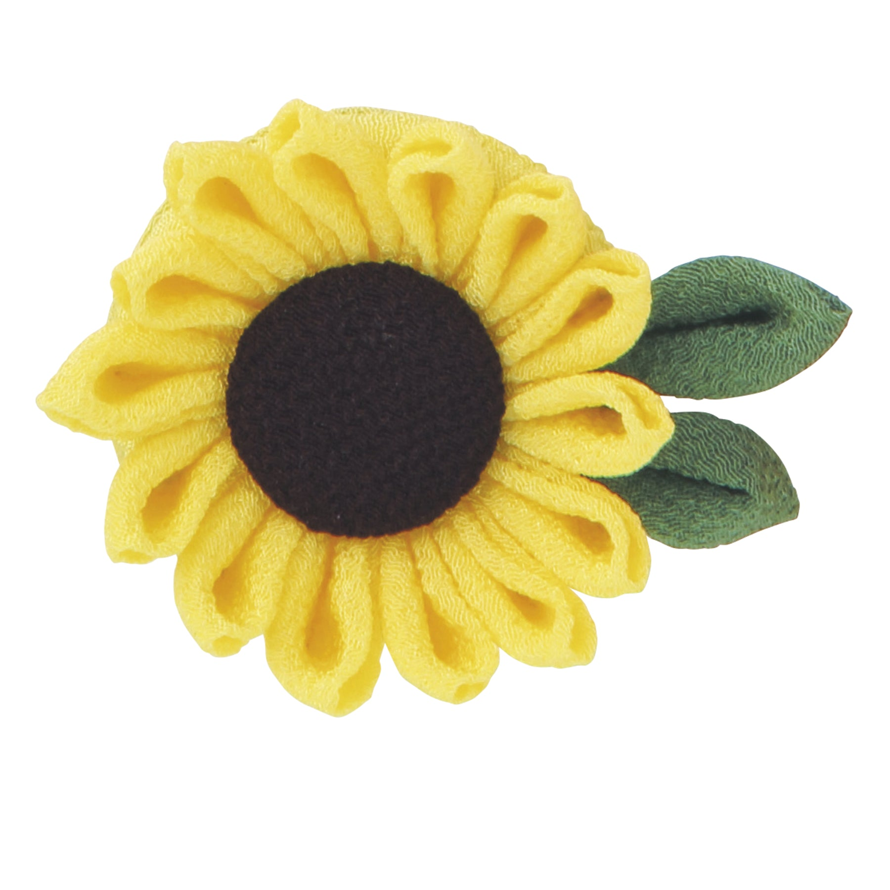 Olympus Tsumami Zaiku Flower Brooch Craft Kit  - Sunflower